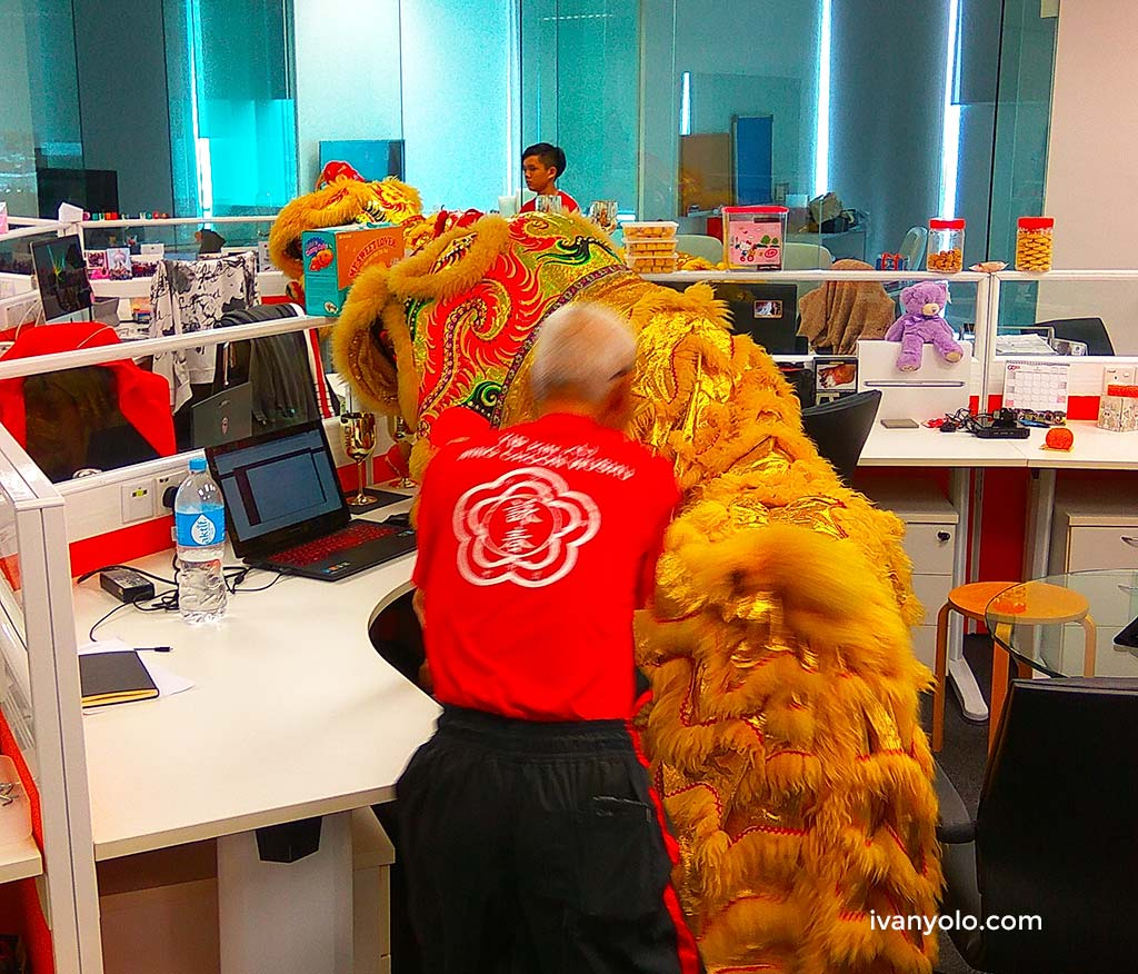 CNY 2017 Lion Dance in Office