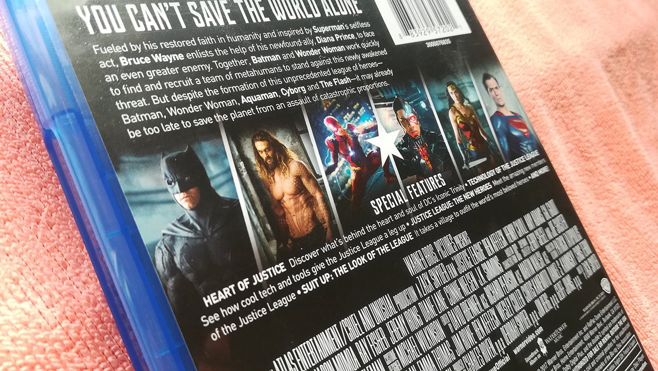 Justice League Blu-ray Dolby Atmos