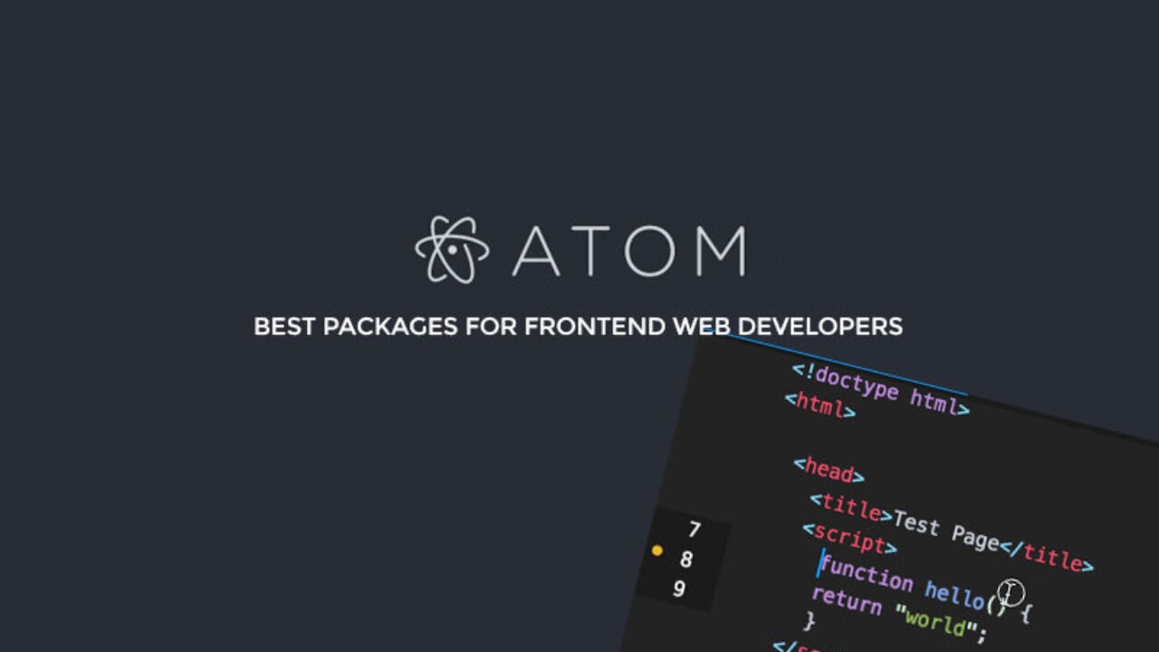 10 Best Atom Packages for Frontend Web Developers | IvanYolo