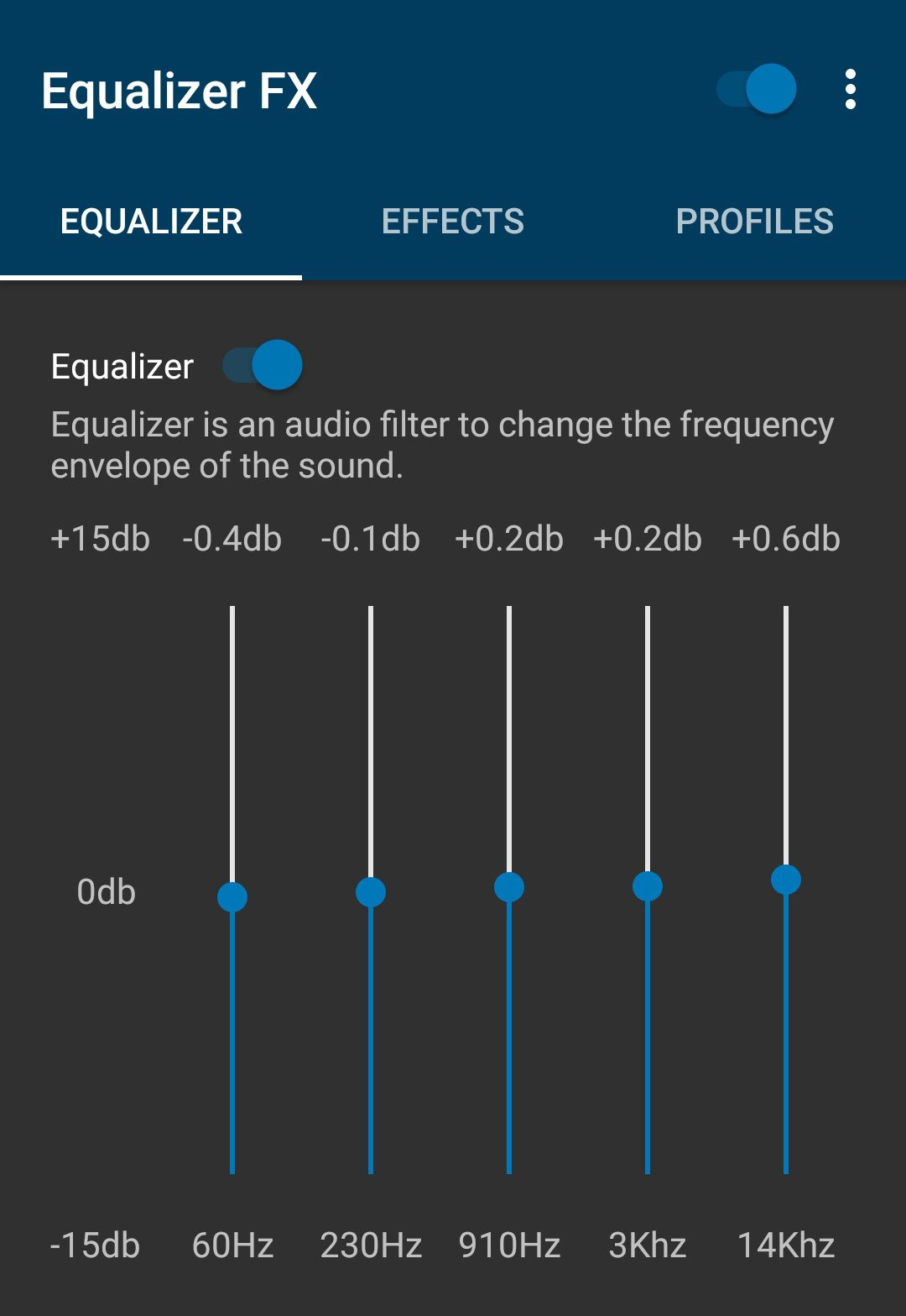 Equalizer FX Setting
