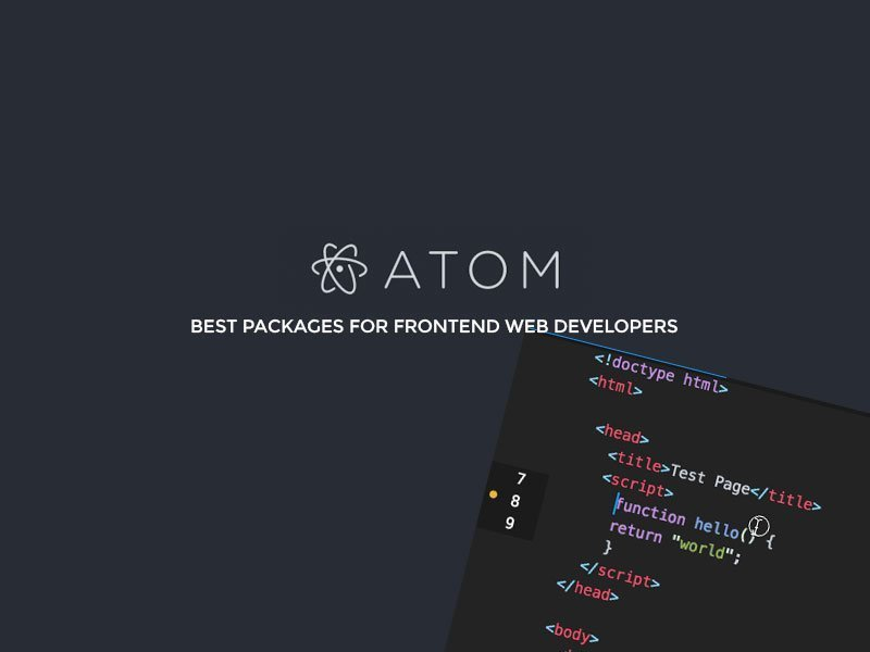 10 Best Atom Packages for Frontend Web Developers