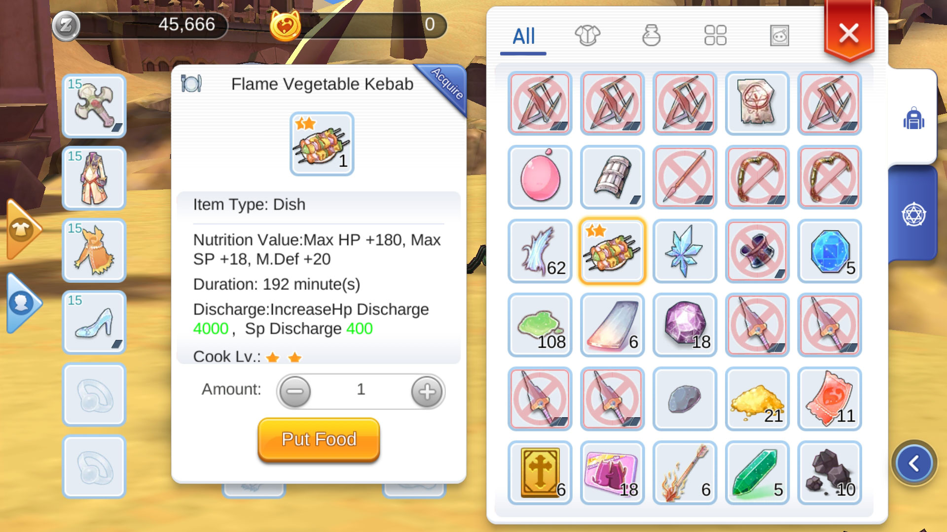 Ragnarok Eternal Love Dish Food Level Up Fast Guide