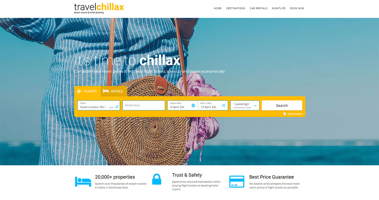 Travel Chillax Beach Resorts & Hotel Booking