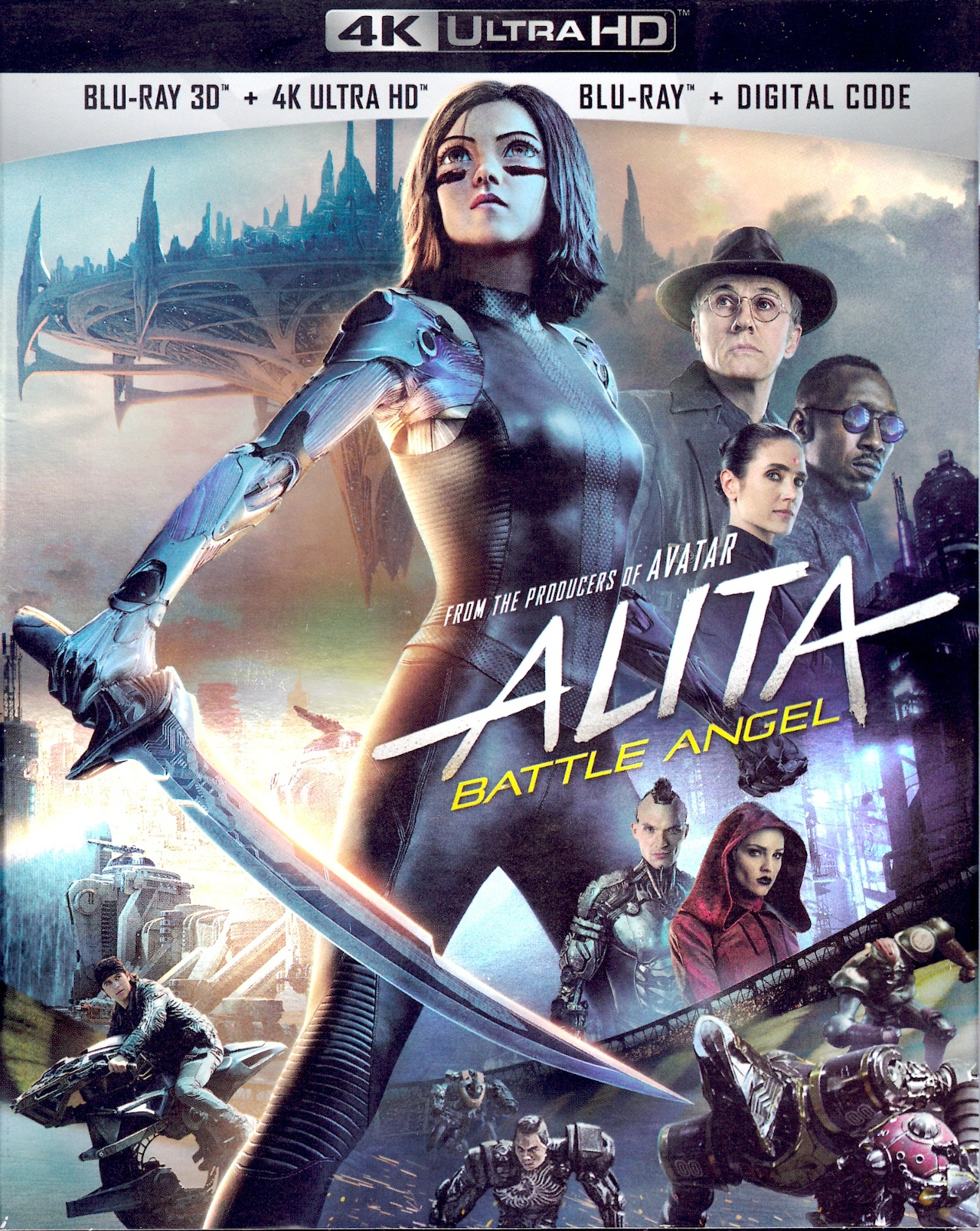 Alita Battle Angel 4K UHD - Best 4K Blu-ray Animated 3D Movies