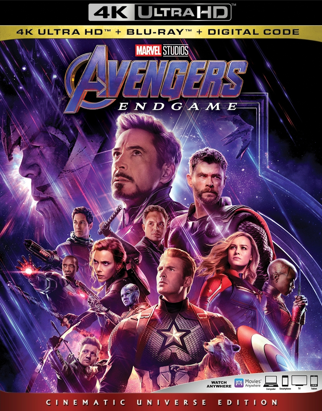 Avengers Endgame 4K UHD-  Best 4K Blu-ray Marvel Superhero Movies