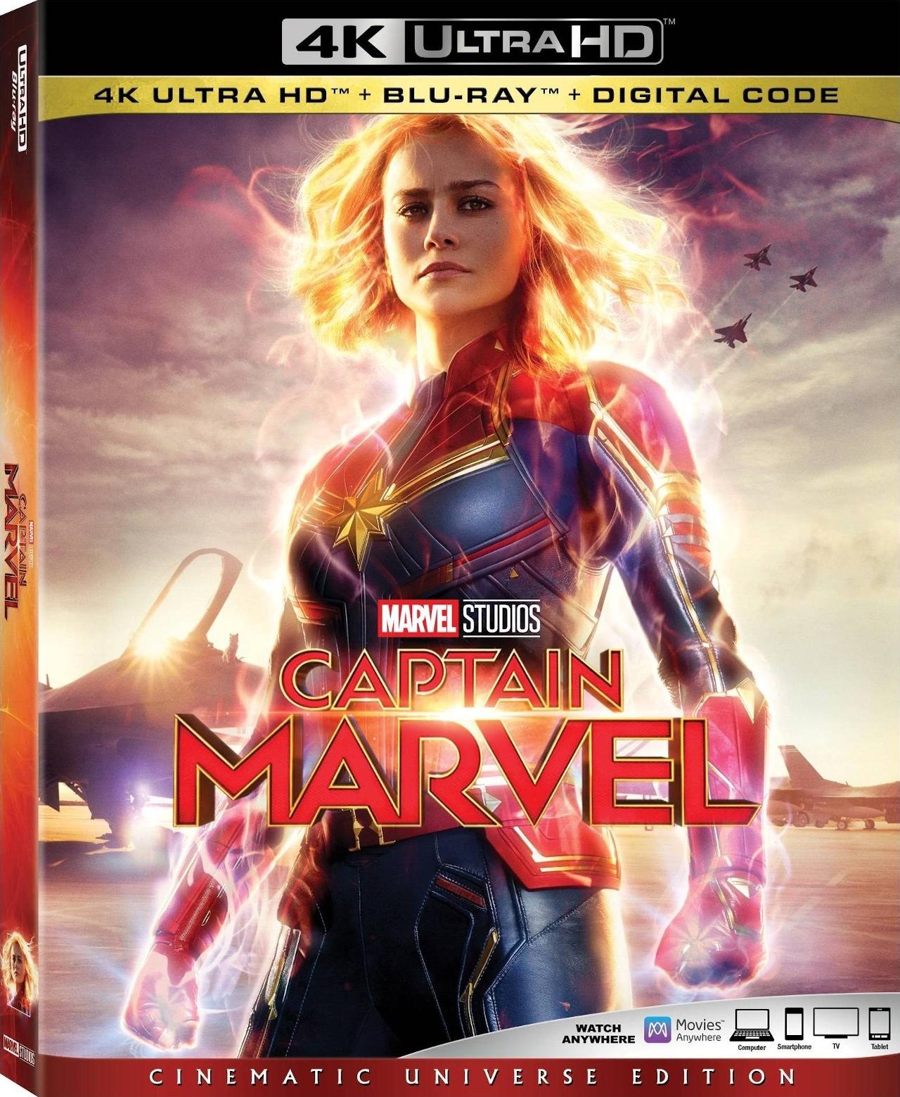 Captain Marvel 4K UHD - Best 4K Blu-ray Marvel Superhero Movies