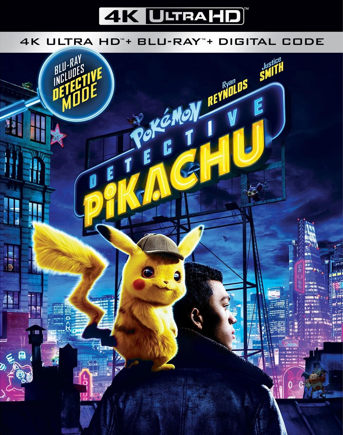 Pokemon Detective Pikachu 4K UHD - Best 4K Blu-ray Animation Movies