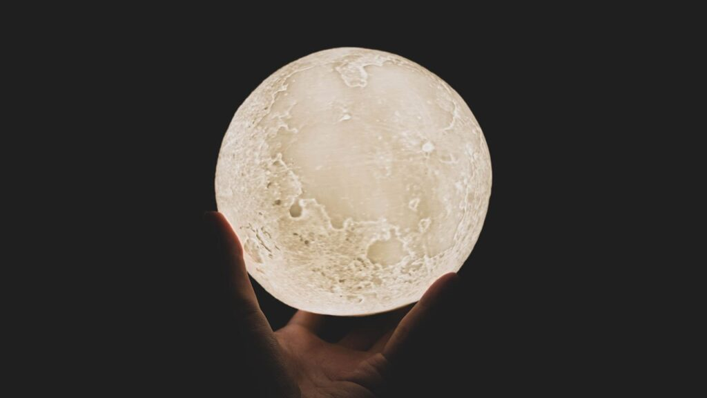 3D Yellow Moon Lamp