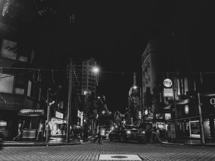 Brickfields Street in B&W