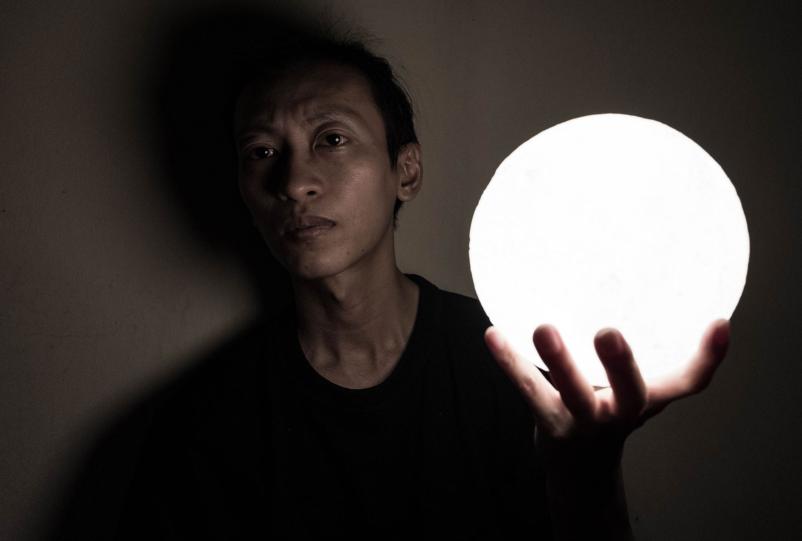 LED Moon Lamp Photography