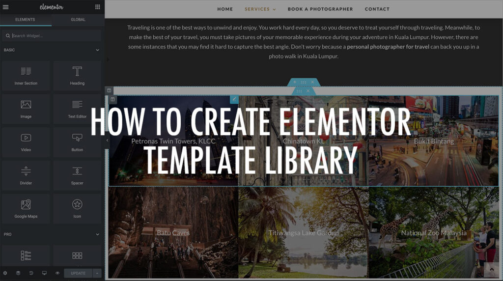 How To Create Elementor Template Library on WordPress