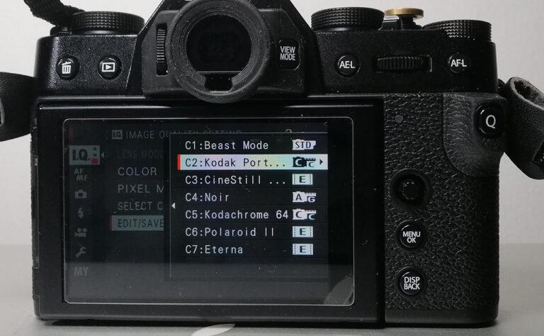 Fujifilm Film Simulation Recipe Custom Setting