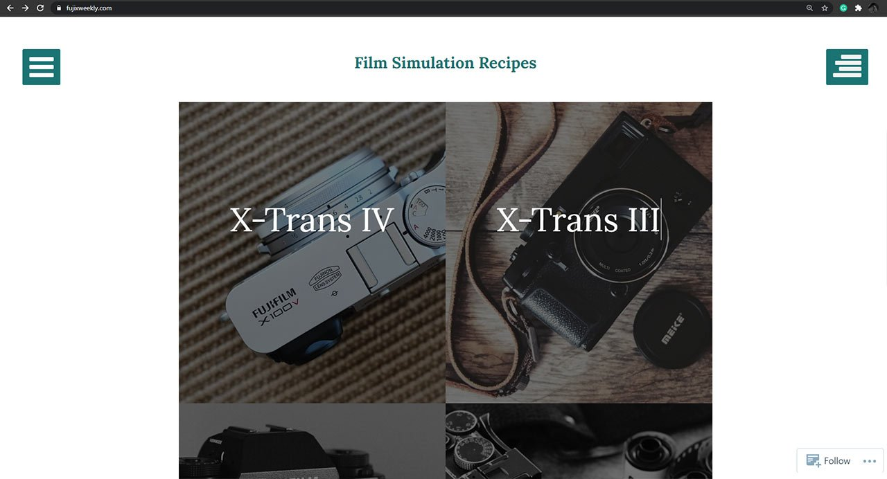Find Fujixweekly Film Recipes