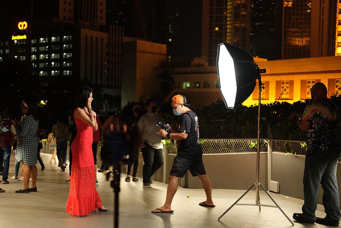 Behind The Scenes Night Portrait