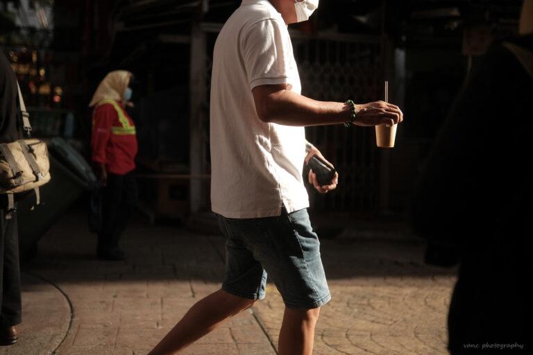 Man Holding Bubble Tea