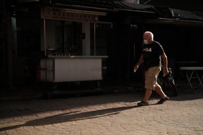 Man Walking Chinatown KL