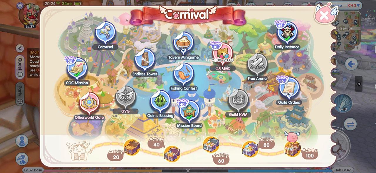 Ragnarok X Carnival Leveling Guide
